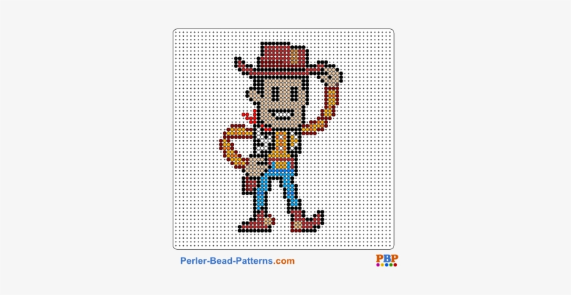 Perler Bead Pattern Woody-toy Story - Perler Beads Toy Story, transparent png #637802