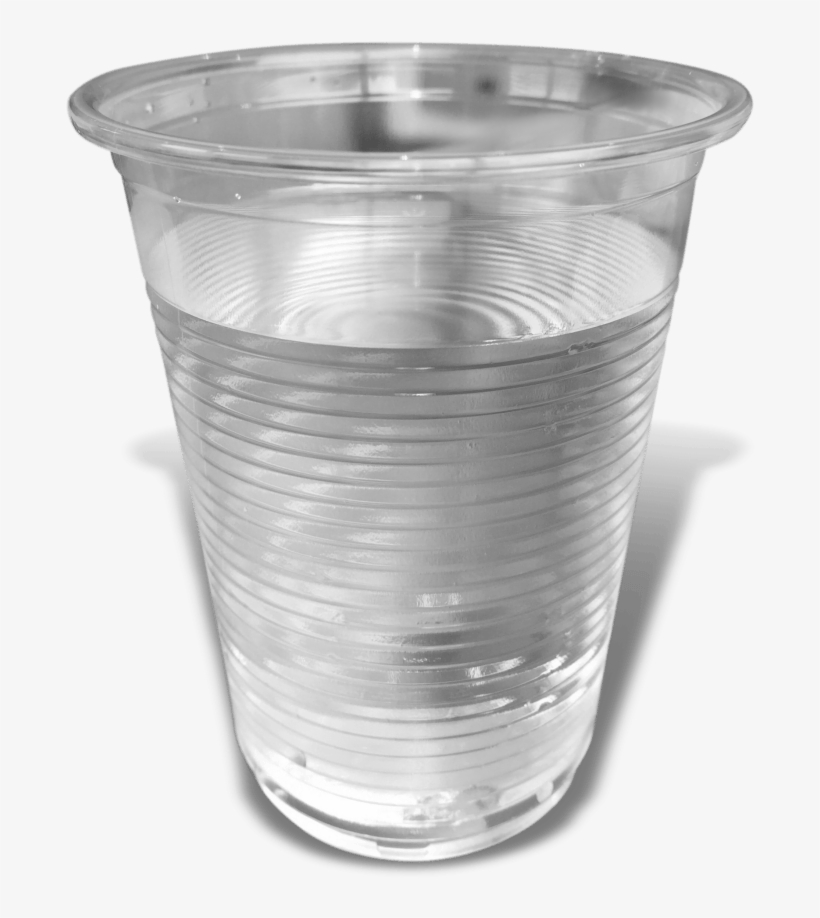Miw Water Dispenser 7oz Plastic Clear Cup - Plastic Cup With Water, transparent png #638914