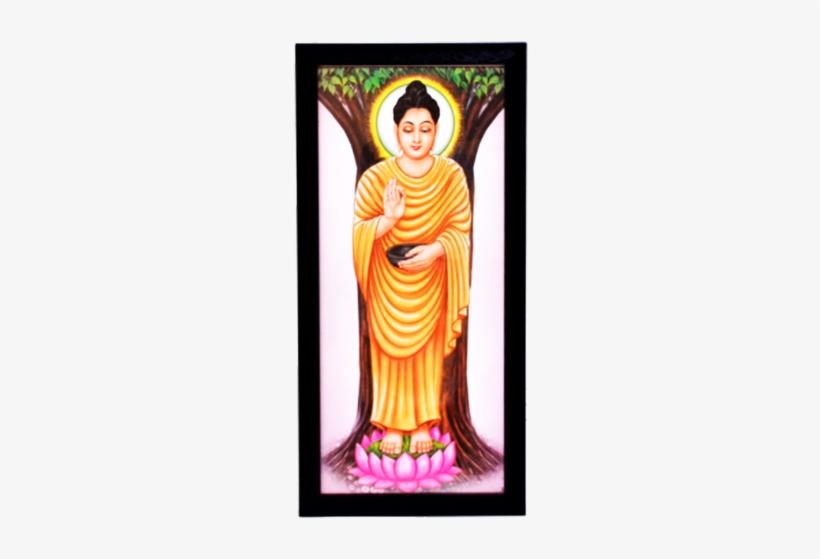 Gautam Buddha Digital Printing Framed Poster - Ambedkar Images With Buddha, transparent png #639481