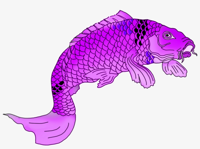 Png Transparent Download Colorful Drawings Purple - Koi, transparent png #639663