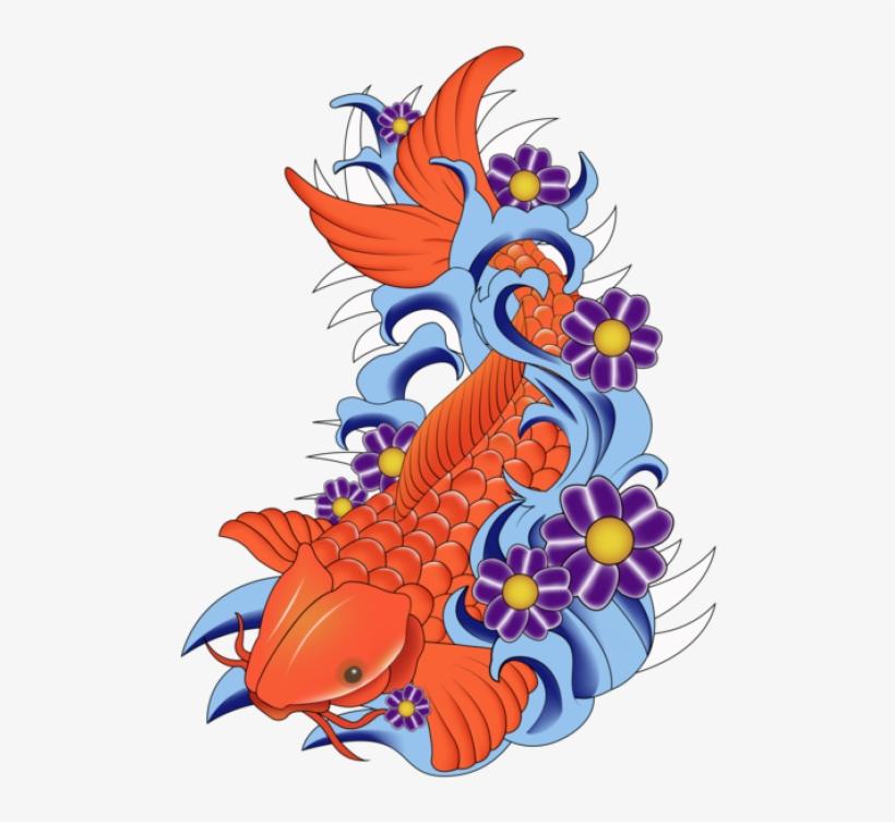 Koi Fish Vector Art - Koi Fish Free Vector, transparent png #639802