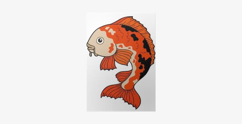 Koi Fish Cartoon Drawing, transparent png #639830