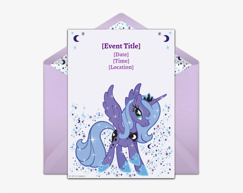 Customizable, Free Princess Luna Online Invitations - My Little Pony St Mlp Luna01 'luna' Car Window Decal, transparent png #6303572