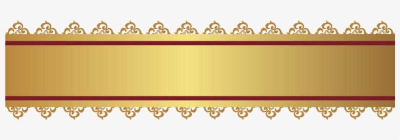 Euclidean Computer File Transprent - Banner Vector Png Gold, transparent png #6303708