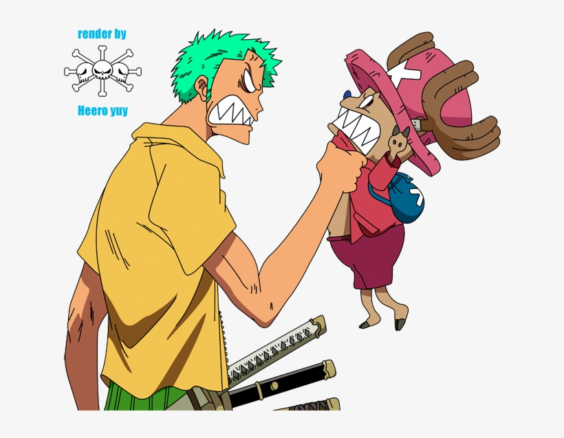 One Piece Chopper And Zoro, transparent png #6314613