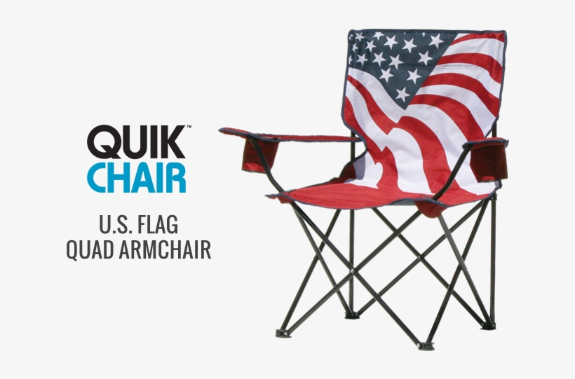 Quik Chair U - Quik Chair Us Flag Folding Chair, transparent png #6316220