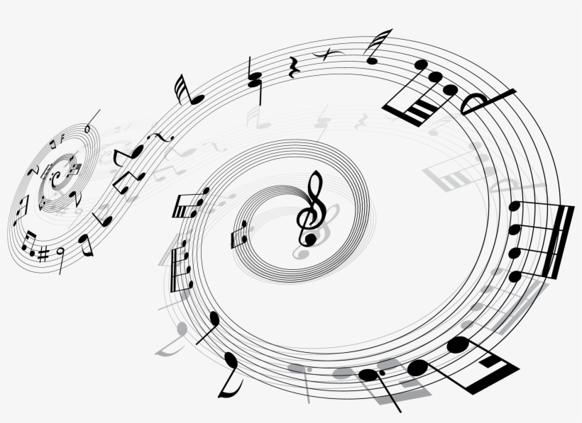 Desktop Wallpaper Musical Note Sheet Notes Transprent - Music Notes Swirl Pillow Case, transparent png #6321130