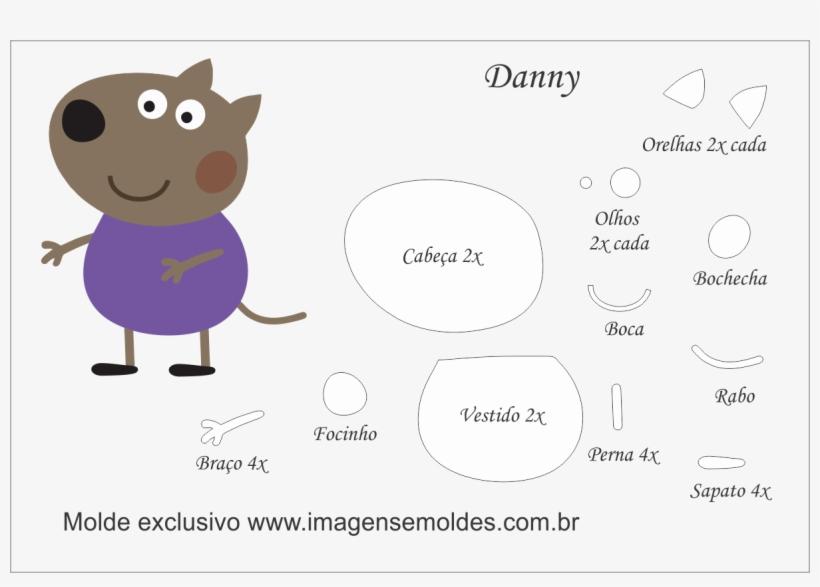 Molde Peppa Pig - Peppa Pig Danny Dog Png, transparent png #6322740