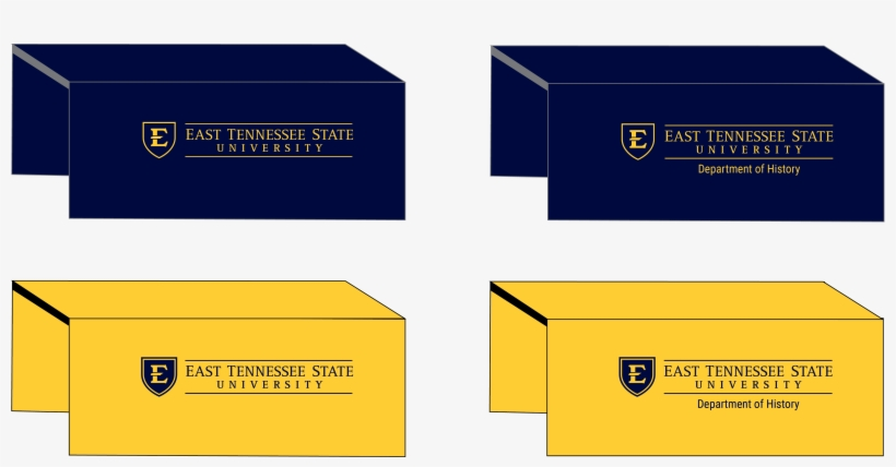 The Etsu Logo Will Be Displayed On The Tablecloth, - East Tennessee State University, transparent png #6327643