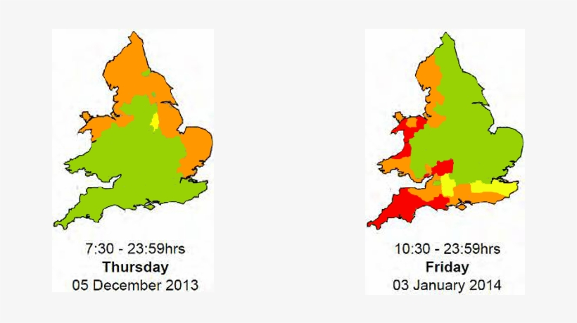 Flood Risk Maps For The Two Storms In December 2013 - Christmas Tree, transparent png #6327758