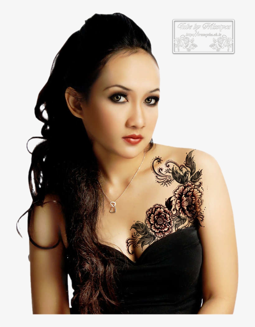 Flowers Chest Tattoos For Girls Dream Tattoos, Rose - Chest Tattoos For Girls Ideas, transparent png #6333743