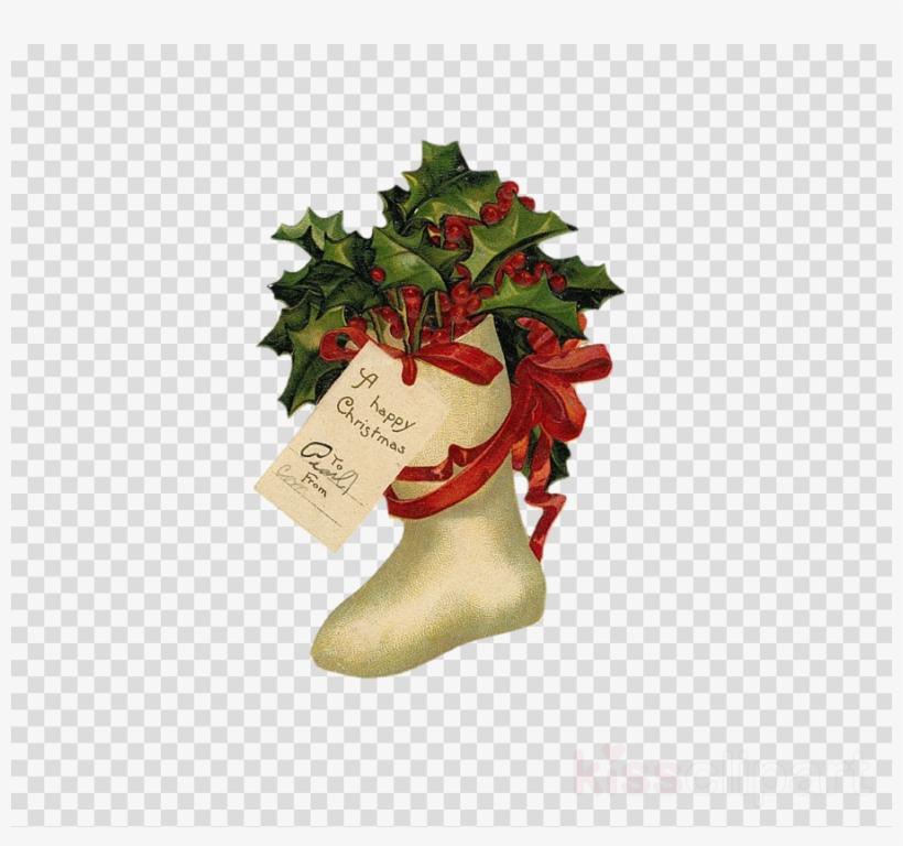Clip Art Clipart Santa Claus Vintage Christmas Clip - Free Christmas Clipart Vintage, transparent png #6343057