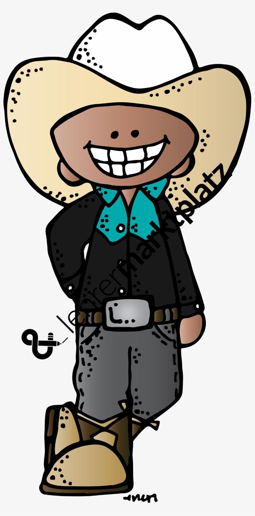 Graphic Freeuse Clip Art Cowboys Und Cowgirls Farbig - Melonheadz Clip Art Cowboy, transparent png #6344061