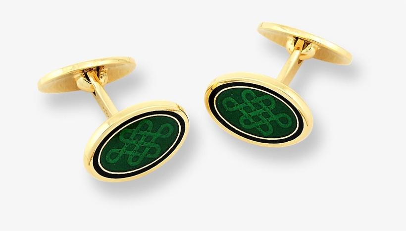 Nicole Barr Designs 18 Karat Gold Oval Celtic Cufflinks - Cufflink, transparent png #6348943