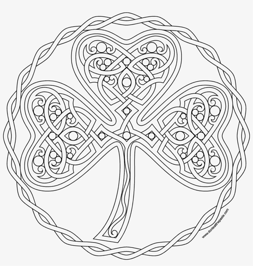 Celtic Designs, Flower Images, Doodles Zentangles, - Mandalas Para Colorear De Trebol, transparent png #6348998