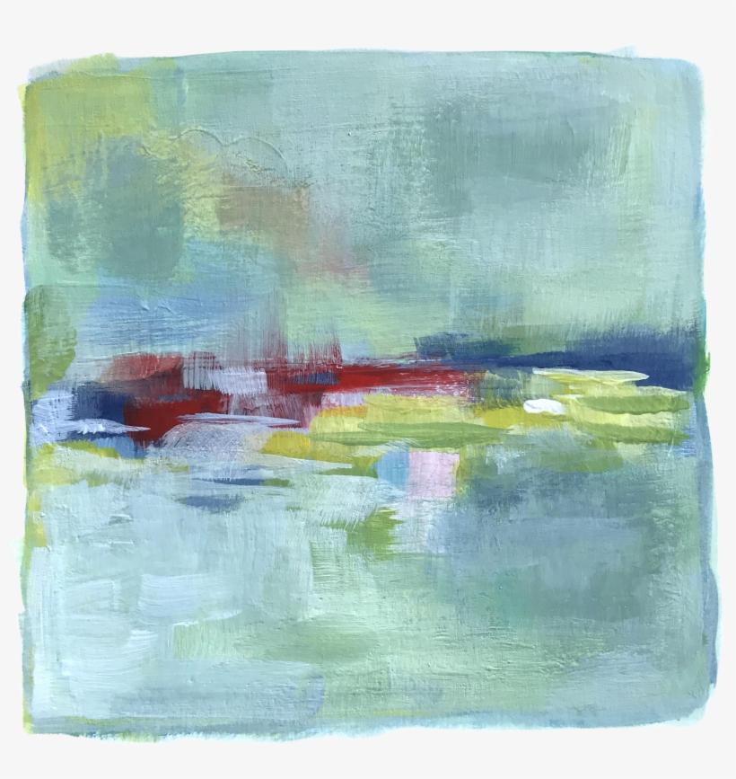 Original Abstract Modern Summer Field Painting Chairish - Modern Art, transparent png #6354180