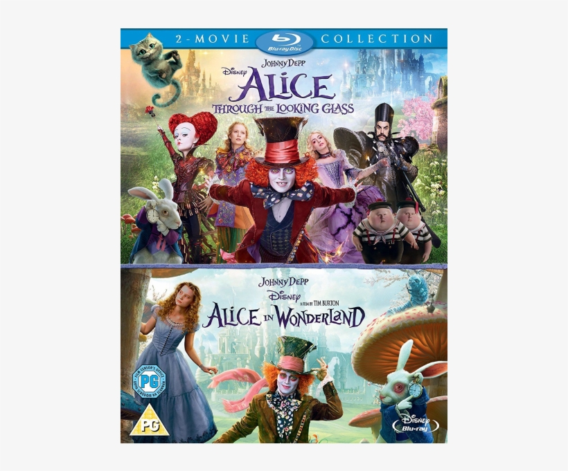 Alice In Wonderland & Alice Through The Looking Glass - Alice In Wonderland Alice Through The Looking Glass, transparent png #6364982