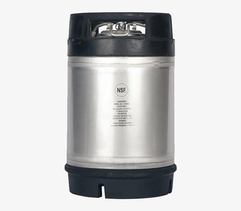 Beverage Elements Ball Lock - 2.5 Gallon New Amcyl Ball Lock Keg, transparent png #6366191