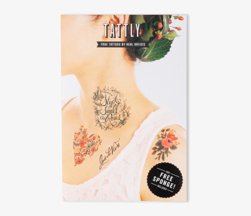 Floral Set - Tattly Temporary Tattoos Floral Set, 1 Ounce, transparent png #6370326
