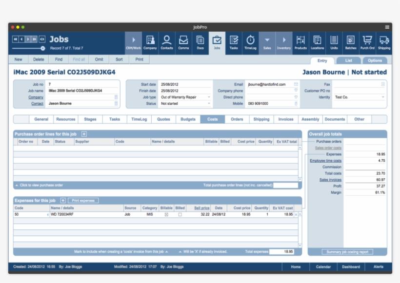 Filemaker Purchase Order Template - Apple Filemaker Pro