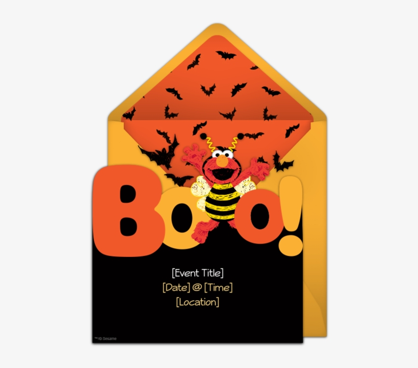 A Free Elmo Invitation For A Halloween Party Boo Such - Elmo Halloween Birthday Party, transparent png #6381221
