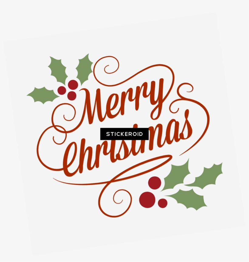 Merry Christmas Classical Vintage Sign - Merry Christmas Cake Toppers, transparent png #6388711
