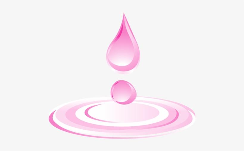 Drop Download Cartoon Drops - Pink Water Drops, transparent png #6389915