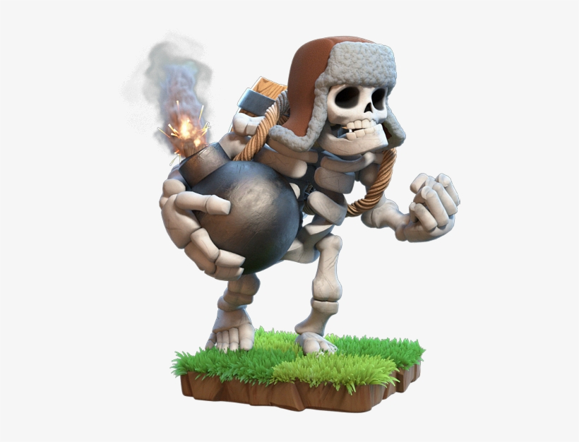 Like His Living Counterpart, The Giant Skeleton Will - Clash Of Clans Giant Skeleton, transparent png #640212