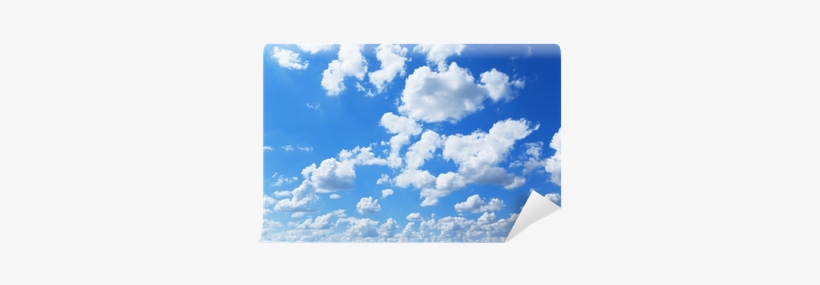 Blue Sky And Fluffy White Clouds Wall Mural • Pixers® - Cloud, transparent png #641310