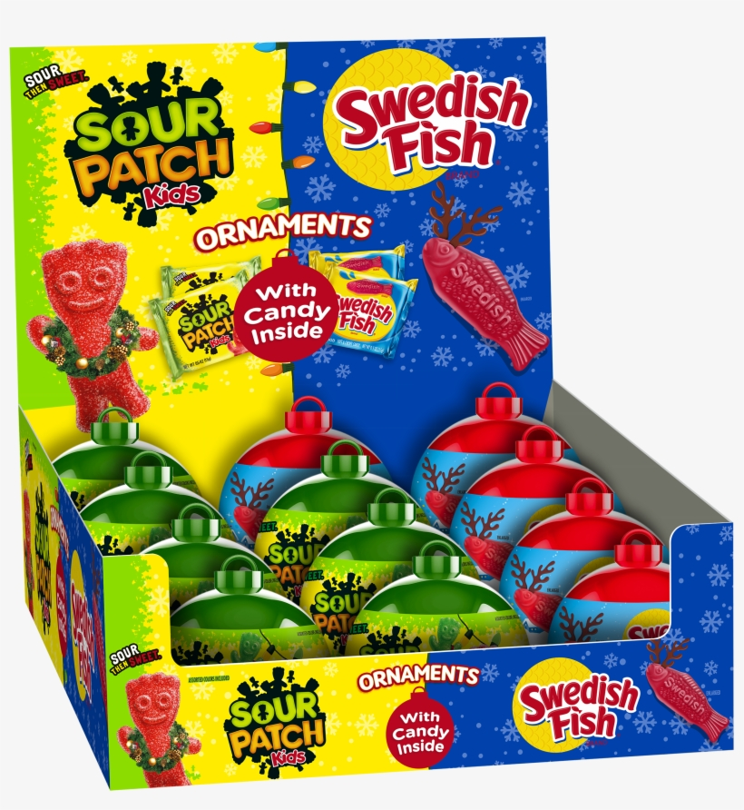 Sour Patch Kids/swedish Fish Mixed Ornament Tray 12ct, transparent png #642272