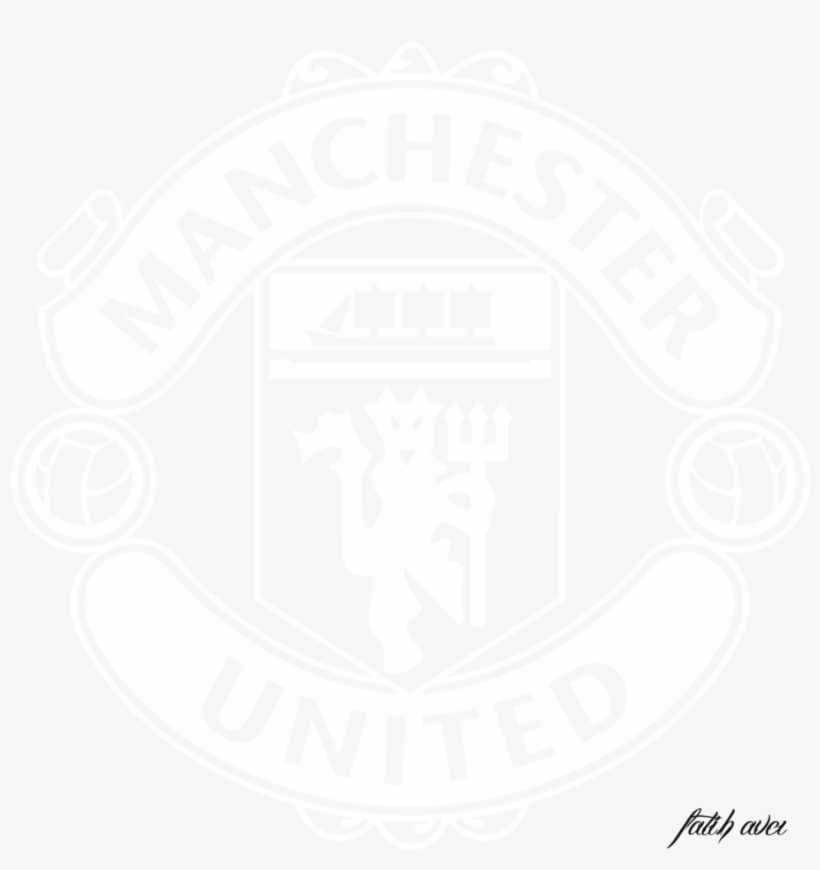 manchester united logo black and white vector free transparent png download pngkey manchester united logo black and white
