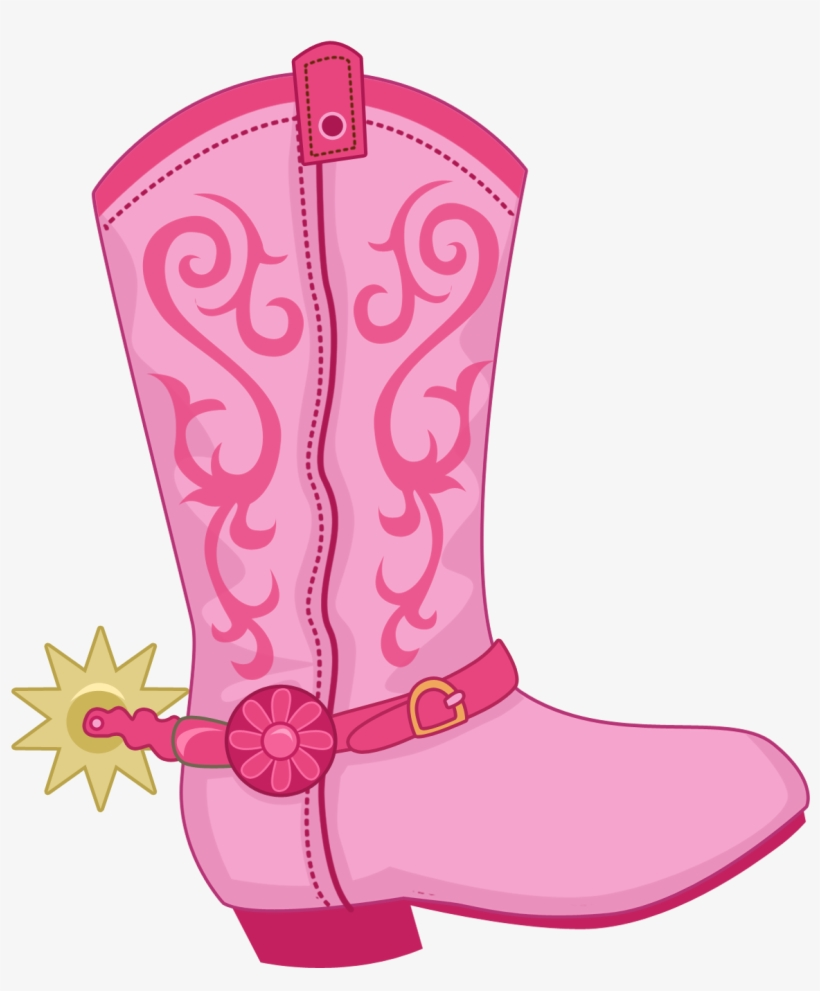 Boot Hat N Clip - Pink Cowboy Boot Clipart, transparent png #644290