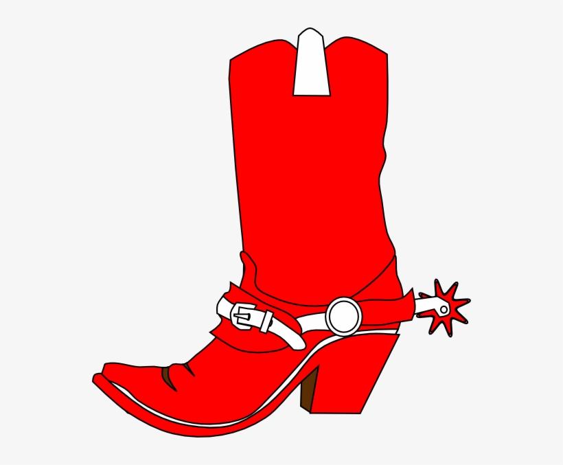Cowboy Boot Png Transparent Image - Red Cowboy Boots Clipart, transparent png #644496