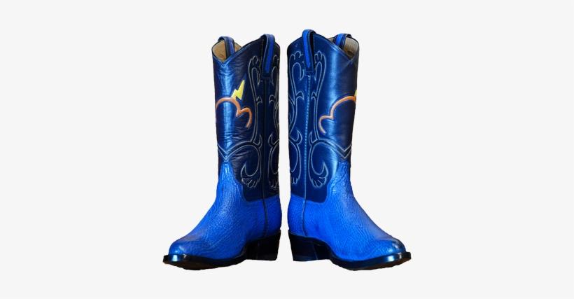 Blue Thunderstorm Lightning Boots - Blue Cowboy Boots Png, transparent png #644518