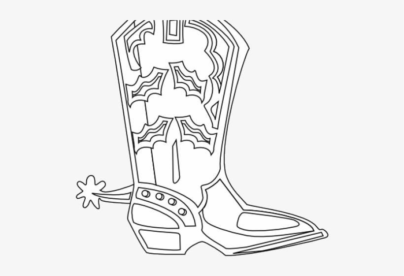 Drawn Cowboy Pair Boot - Clip Art, transparent png #644820
