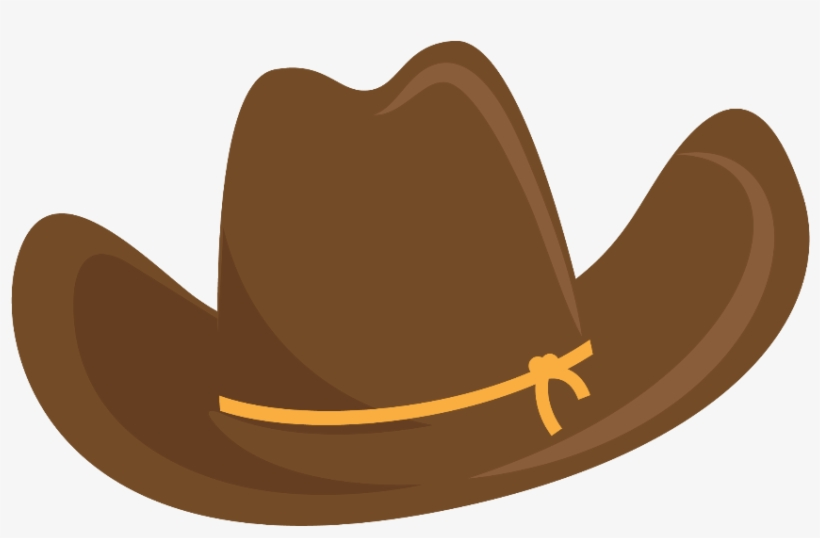 Cowgirl Clipart Brown Cowboy Boot - Sombrero De Vaquero Dibujo, transparent png #645837