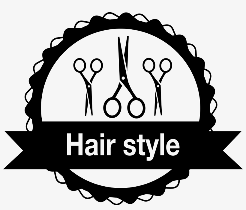 Hair Salon Badge With Scissors Comments Hair Logo Vector Png Free Transparent Png Download Pngkey