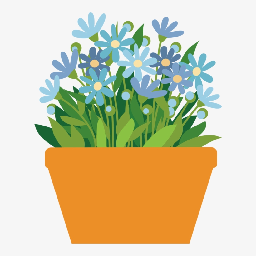 Daisy Clipart Potted Flower - Flower Pot Clipart Png, transparent png #647141
