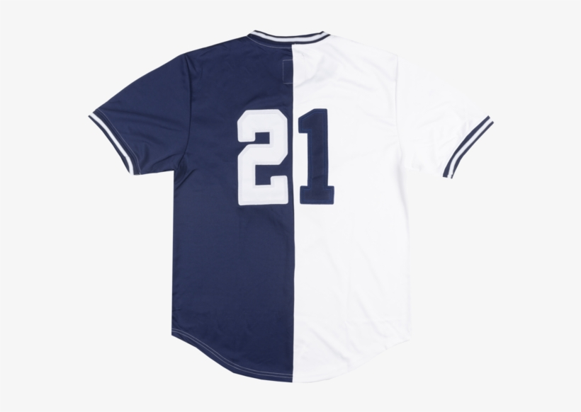 Maximilian Skull Cowboy Split Baseball Jersey Navy - Sports Jersey, transparent png #647505