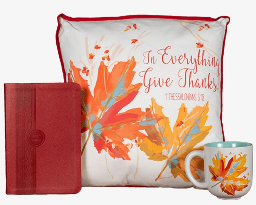 Thanksgiving Offer Give Thanks Pillow & Mug-$40 Or - Thanksgiving, transparent png #647800