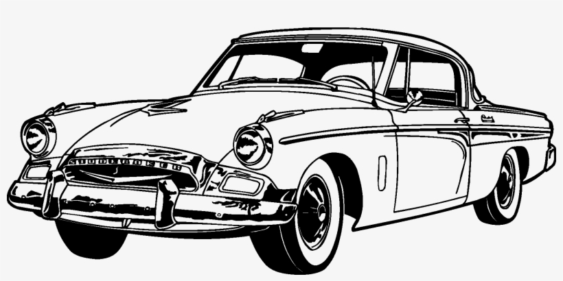Old Classic Cars Silhouette - Classic Car Car Silhouette, transparent png #648958