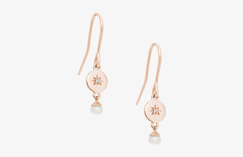Diamond Voyager Pearl Earring Set - Earring, transparent png #6400901