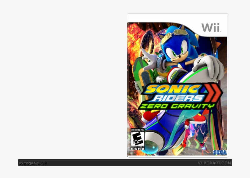Sonic Riders Zero Gravity Box Art Cover Sonic The Hedgehog Free Transparent Png Download Pngkey