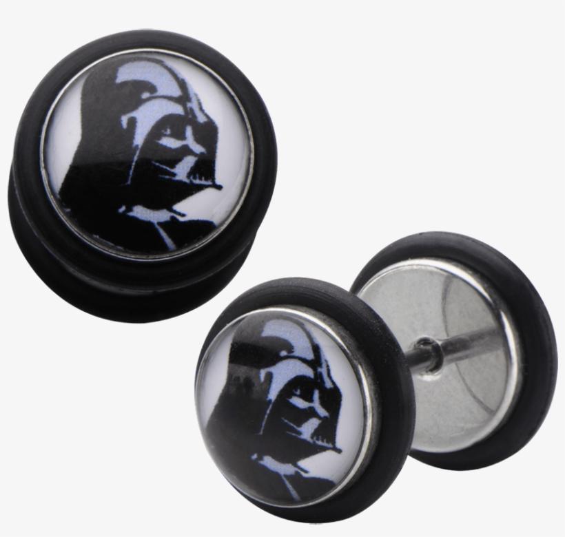 "Star Wars Darth Vader Screw Back Earrings - ""star Wars Darth Vader Screw Back Earrings"", transparent png #6420998"