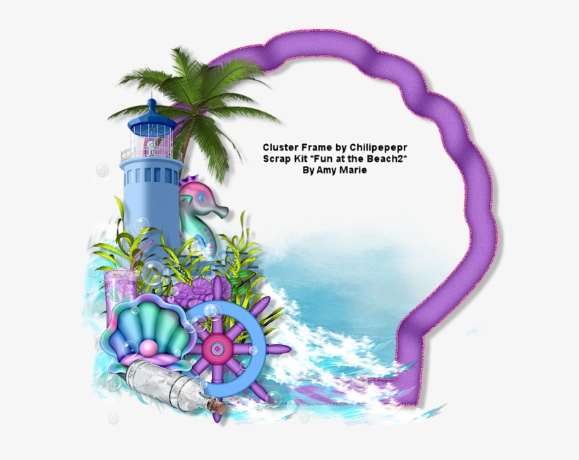 Ftu Ct Cluster Frame And Tag *fun At The Beach 2* - Cluster Png Frames, transparent png #6422671