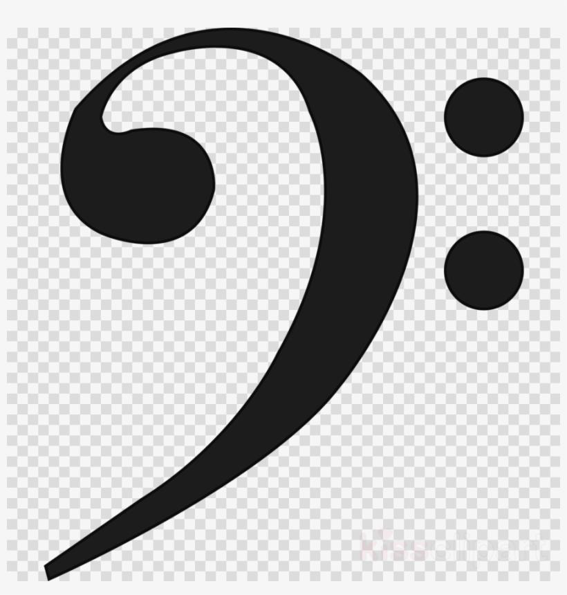 Clip Art Clipart Clef Musical Note Clip Art - Bass Clef Clip Art, transparent png #6432419