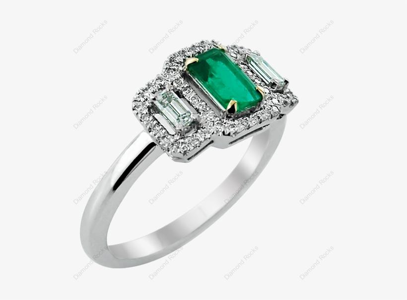 Emerald Octagon & - Pre-engagement Ring, transparent png #6434118