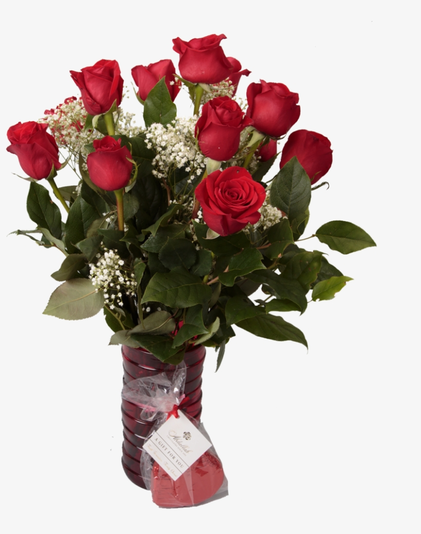 12 Red Roses &amp - Beautiful Flowers For Your Love, transparent png #6438716