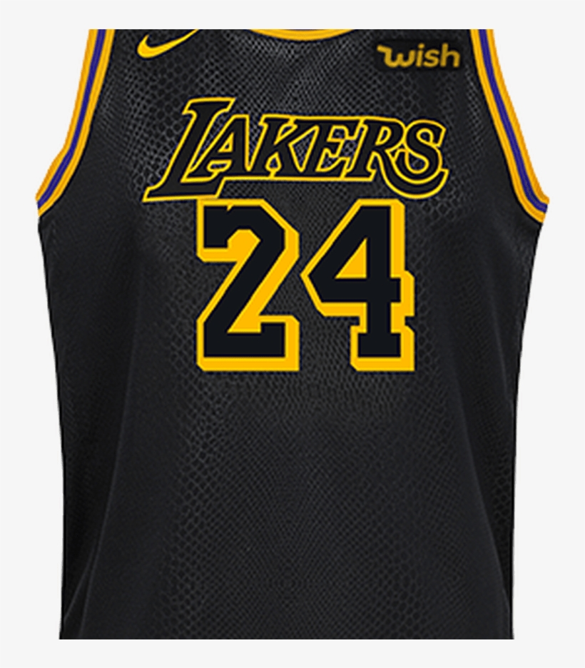 Kobe Bryant Youth City Edition Swingman Jersey Lakers - Lakers Jersey Kobe, transparent png #6450066