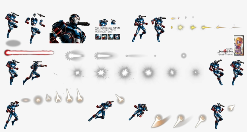 Click For Full Sized Image War Machine - Iron Patriot Marvel Avengers Alliance, transparent png #6454418